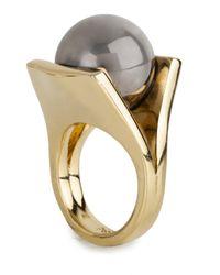 Lele Sadoughi   Metallic Pinball Ring Size 7   Lyst