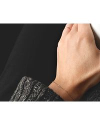 Vrai & Oro | White Solitaire Diamond Bracelet | Lyst