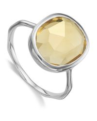 Monica Vinader | Metallic Siren Medium Citrine Stack Ring | Lyst