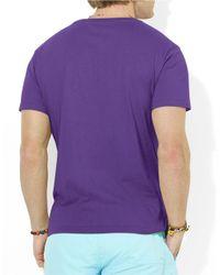 Polo Ralph Lauren   Purple Medium-Fit Short-Sleeved Cotton Jersey V-Neck for Men   Lyst