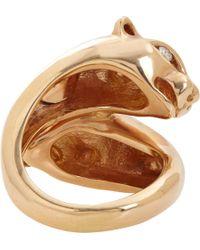 Sidney Garber - Metallic Diamond & Rose Gold Panther Ring - Lyst