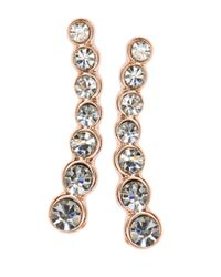 Anne Klein | Metallic Rose Goldtone Graduated Ear Crawlers | Lyst