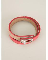 Fendi - Pink Buckled Bracelet - Lyst