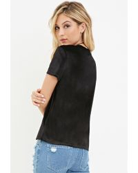 Forever 21 - Black Velvet Pocket Top - Lyst