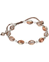 Chan Luu - Metallic 7 1/4 Copper Crystal Pull Tie Single Bracelet - Lyst