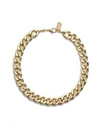 Karine Sultan | Metallic Curb Chain Collar Necklace | Lyst