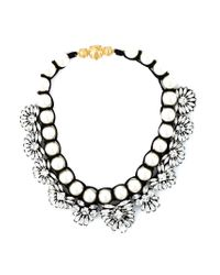 Shourouk | Metallic Faux Pearl Embellished Necklace | Lyst