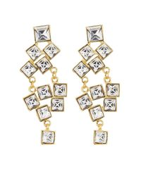 Kenneth Jay Lane - Metallic Embellished Earrings - White - Lyst