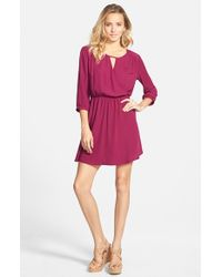 Lush | Purple 'Gigi' Wrap Look Dress | Lyst