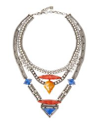 DANNIJO | Metallic Tipton Crystal Chain Necklace | Lyst