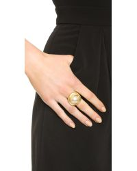Kenneth Jay Lane - Metallic Imitation Pearl Ring - Pearl/gold - Lyst