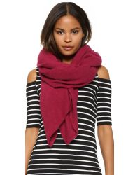 White + Warren | Purple Cashmere Travel Wrap Scarf | Lyst