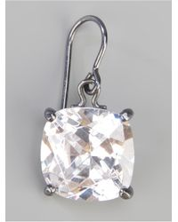 Bottega Veneta | Metallic Zircon Pendant Earring | Lyst