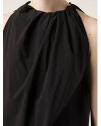 Rick Owens - Black Gathered Detail Top - Lyst