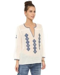 Joie - White Magana Blouse - Lyst