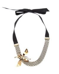 Lanvin - Black Choker Necklace - Lyst