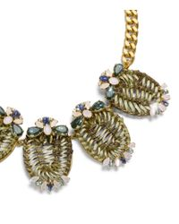Tory Burch - Metallic Raffia, Gold-tone And Crystal Necklace - Lyst