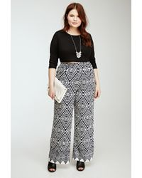 Forever 21 | Blue Abstract Diamond Print Pants | Lyst