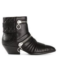 Giuseppe Zanotti - Black Zip Detail Ankle Boots for Men - Lyst