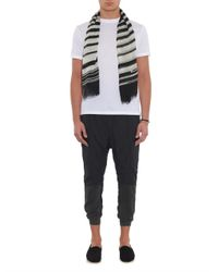 Haider Ackermann - Gray Bi-Colour Jersey And Twill Track Pants for Men - Lyst