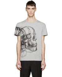 Alexander McQueen | Gray Grey Best Skulls T-shirt for Men | Lyst