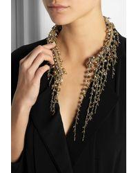 Rosantica - Metallic Ruscello Gold-Dipped Hematite Necklace - Lyst