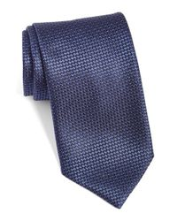 Canali - Blue Woven Silk Tie for Men - Lyst
