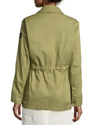 Belstaff - Green Military Drawstring-waist Coat - Lyst