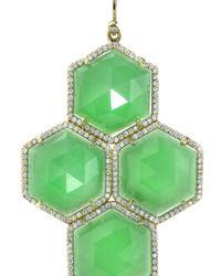 Irene Neuwirth - Green Chrysoprase Earrings - Lyst