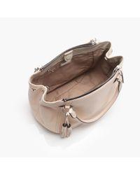 J.Crew | Pink Large Peyton Smooth Leather Satchel | Lyst