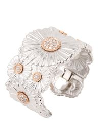 Buccellati - White Diamond Daisy Bracelet - Lyst