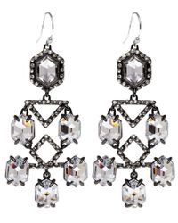 Alexis Bittar - Black Ruthenium Pavo Moonlight Crystal Chandelier Earrings - Lyst