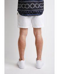 Forever 21 - White Pull-on Chino Shorts for Men - Lyst