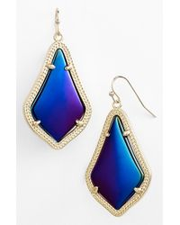 Kendra Scott | Blue 'alex' Drop Earrings | Lyst