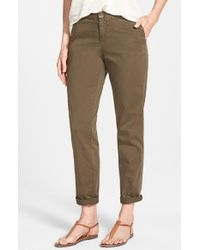 Caslon | Green Stretch Cotton Chino Pants | Lyst