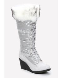 Bebe | Black Rhea Puffy Logo Boots | Lyst