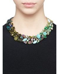 J.Crew | Green Ombré Crystal Necklace | Lyst