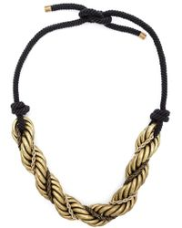 Lanvin | Metallic Twisted Chain Necklace | Lyst
