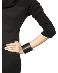 Ann Demeulemeester - Black Leather Cuff Bracelet for Men - Lyst