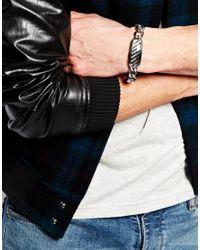 Emporio Armani - Metallic Id Bracelet With Carbon Fibre for Men - Lyst