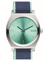 Nixon - Blue 'time Teller' Canvas Strap Watch - Lyst