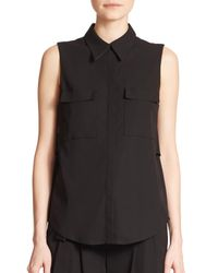 A.L.C. | Black Benjamin Cutout Sleeveless Top | Lyst