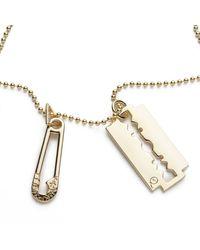 McQ   Metallic Goldtone Pendant Necklace   Lyst