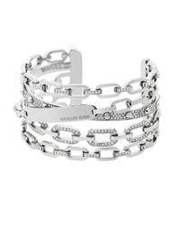 MICHAEL Michael Kors | Metallic Crystal Multi-chain Cuff Bracelet | Lyst