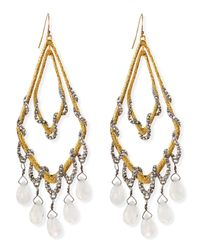 Alexis Bittar | Metallic Golden Maldivian Orbiting Teardrop Earrings | Lyst