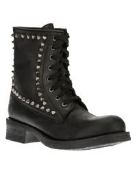 Twin Set - Black Lace Up Boot - Lyst