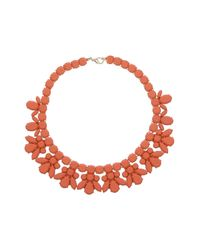 TOPSHOP - Orange Jelly Plastic Necklace - Lyst