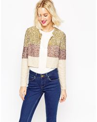 ASOS | Multicolor Jacket With Sequin Embellishment | Lyst