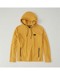 Abercrombie & Fitch - Yellow Waffle Knit Hoodie for Men - Lyst