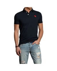 Abercrombie & Fitch - Black Bear Brook Polo for Men - Lyst
